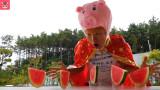 거대 수박 슬라임 색깔 놀이 해요