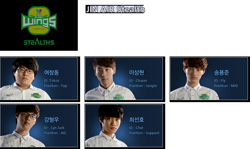JIN AIR GREENWINGS STEALTHS